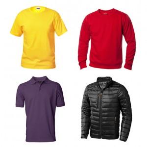 T-shirts, sweat, polo, jakker