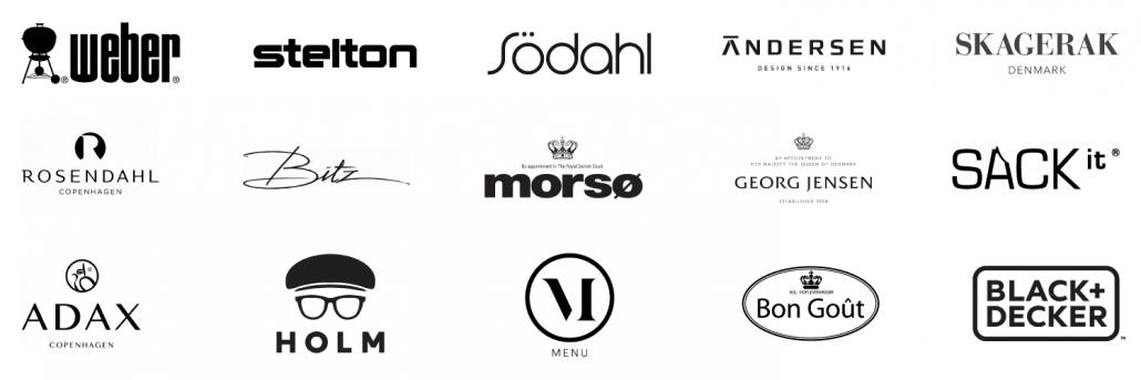 mærkevarer logoer brand banner julegaver